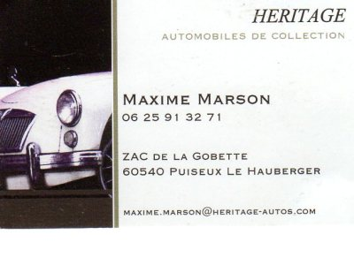 HERITAGEAutomobiles de collection
